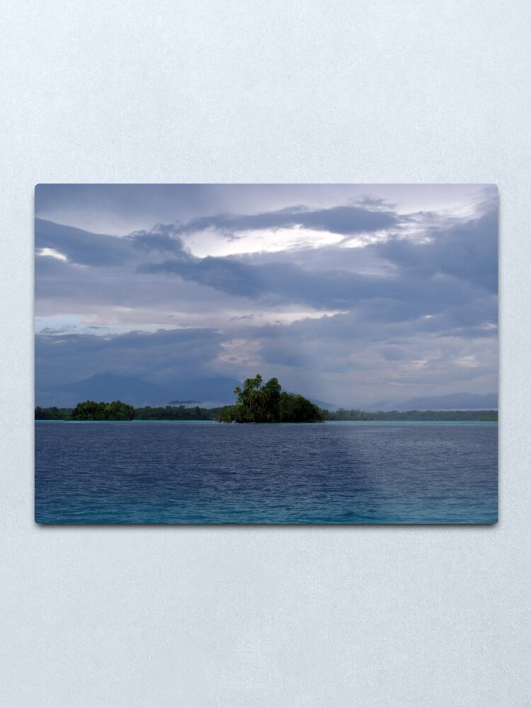 Alternate view of Paradise at Vona Vona Lagoon Metal Print