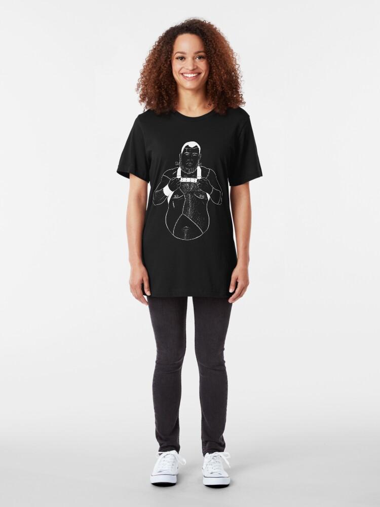 Alternate view of Copy of Dino Frankenbear - Invert Slim Fit T-Shirt