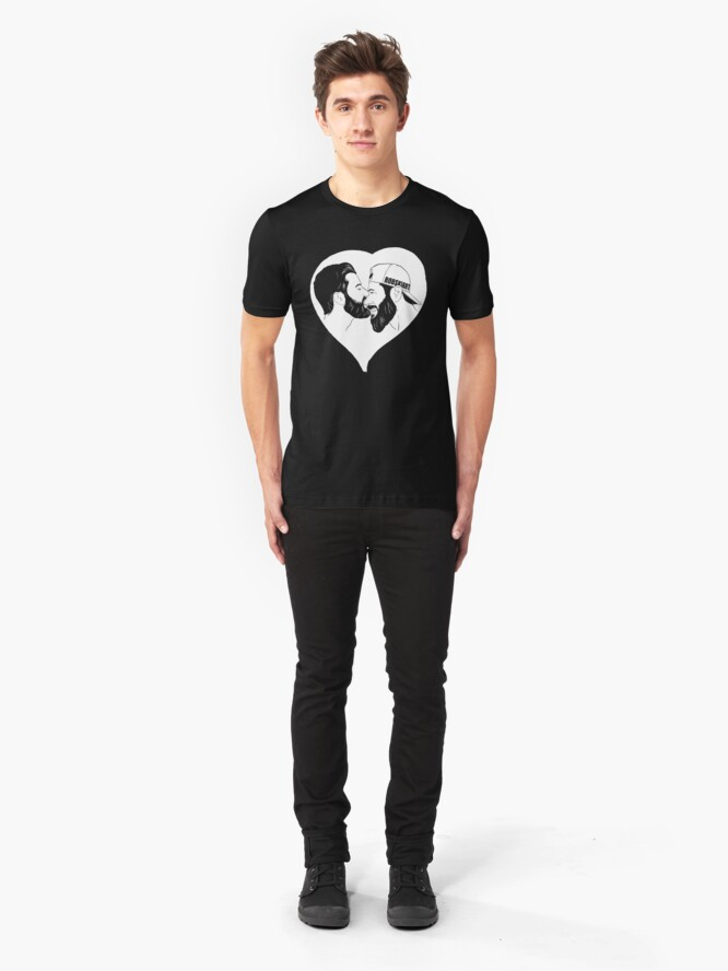 Alternate view of Love is Love - the kiss - Invert Slim Fit T-Shirt