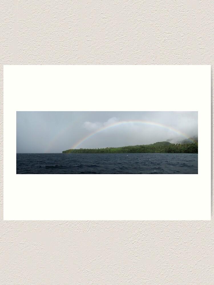 Alternate view of Rainbows at Tetepare Art Print