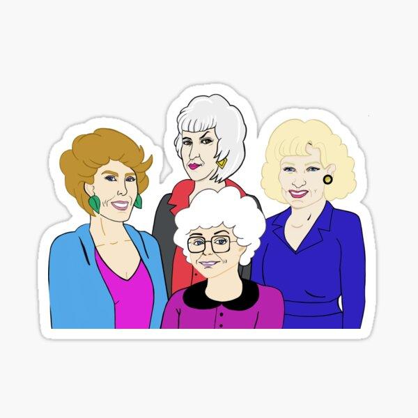 Golden Girls Fan Art Sticker