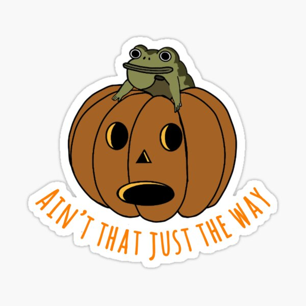 Jason thunderburker and potsfield pumpkin Sticker