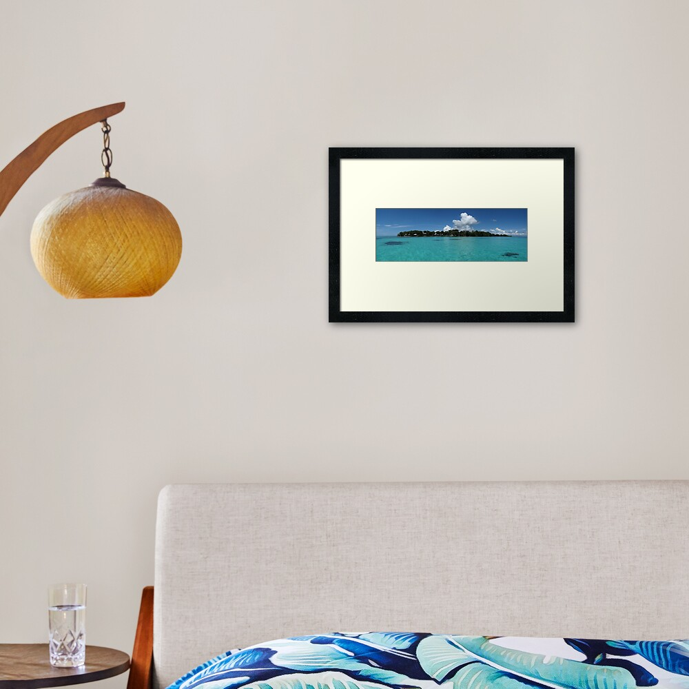 Midday at Nusatupe Island Framed Art Print