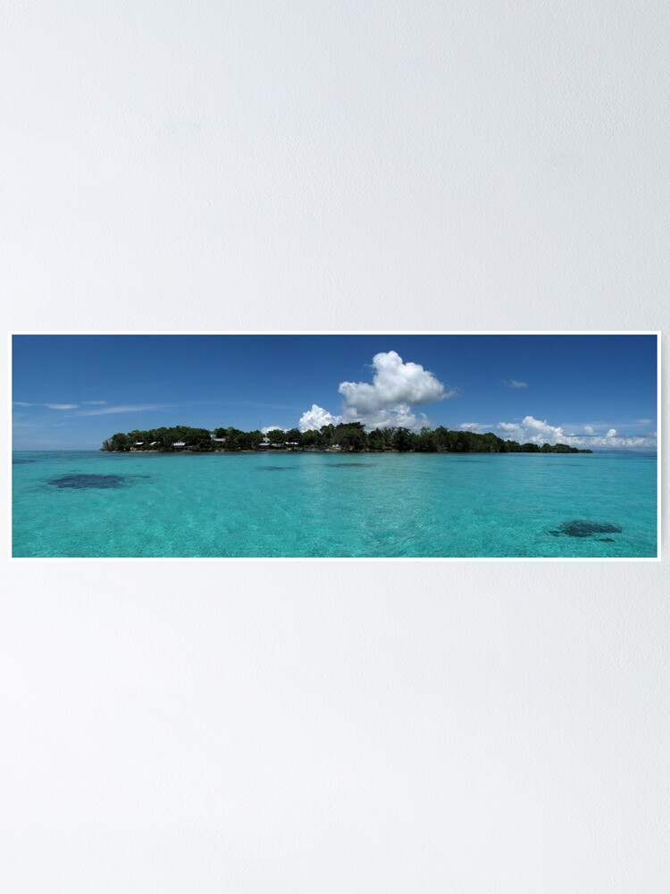 Alternate view of Midday at Nusatupe Island Poster