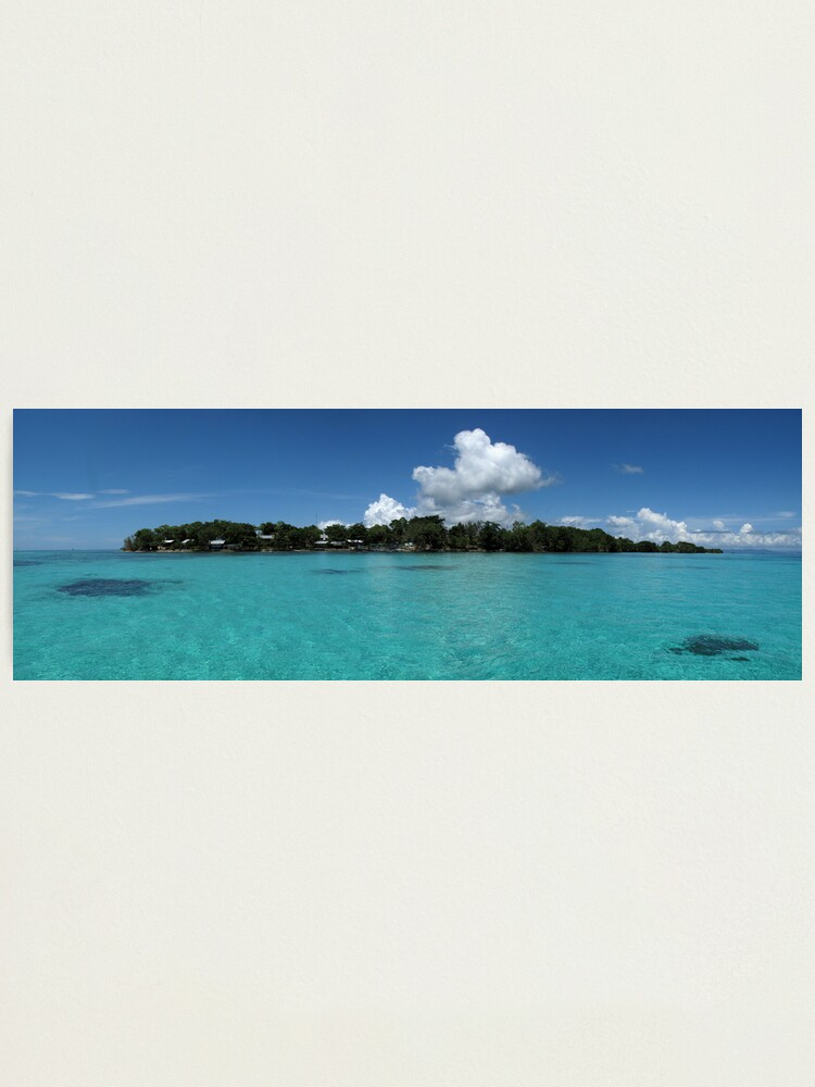 Alternate view of Midday at Nusatupe Island Photographic Print