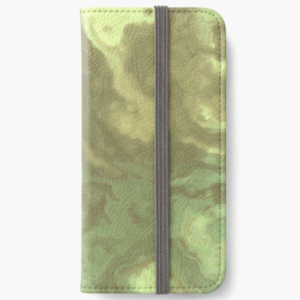 Light Green Fluid iPhone Wallet