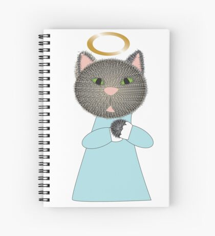 Angel Cat Spiral Notebook