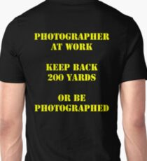 Photographer at work Unisex T-Shirt