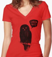 Shadow Am I? Women's Fitted V-Neck T-Shirt