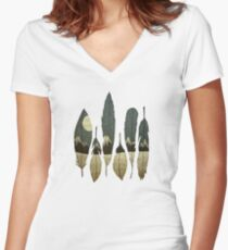 The Birds of Winter Women's Fitted V-Neck T-Shirt