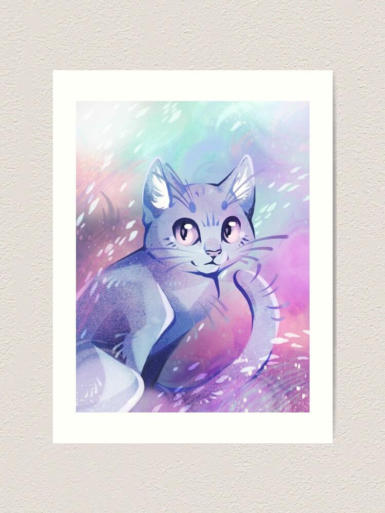 Pastel Dreams Adorable Cartoon Cat In Dreamy Pastel Colors Art Print By Shinepaw Redbubble