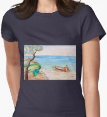 Il pescatore solitario Womens Fitted T-Shirt