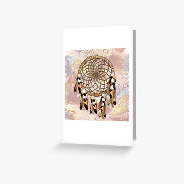Brown Pelican or Hawk Dream Catcher  Greeting Card