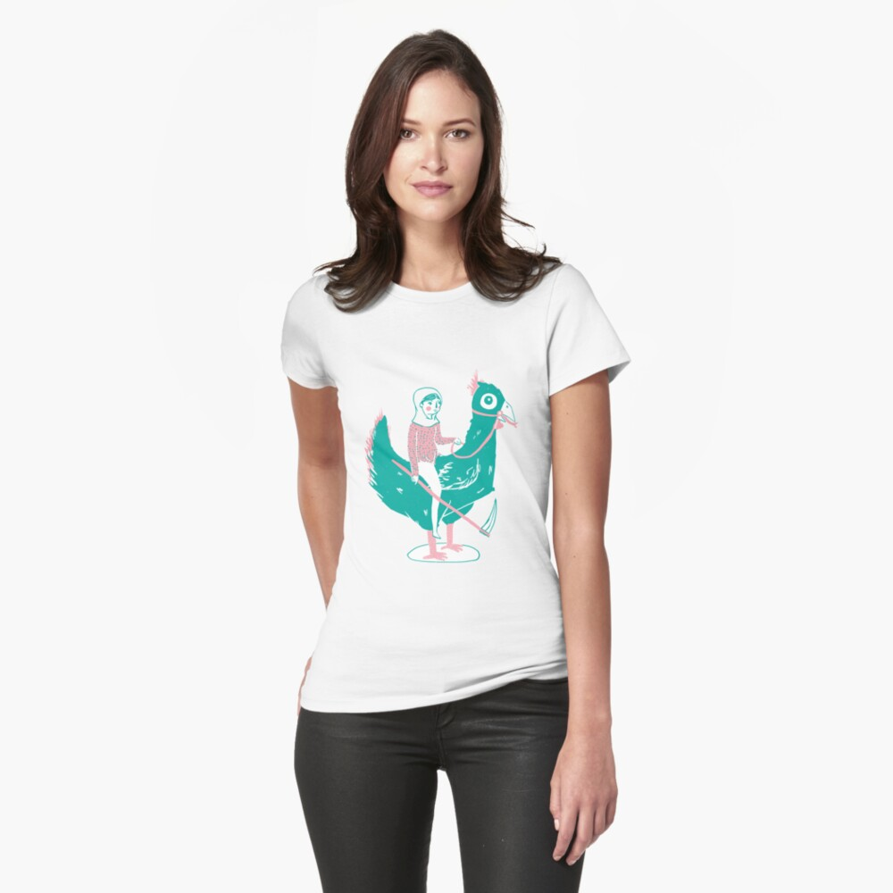 Lady Death upon her Noble Steed Fitted T-Shirt