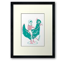 Lady Death upon her Noble Steed Framed Print