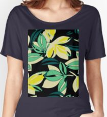 Leaf and Flowers Women's Relaxed Fit T-Shirt