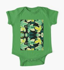 Leaf and Flowers One Piece - Short Sleeve