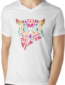 COLORFUL CANDY OWL Mens V-Neck T-Shirt