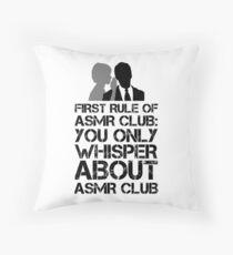 ASMR Club Throw Pillow