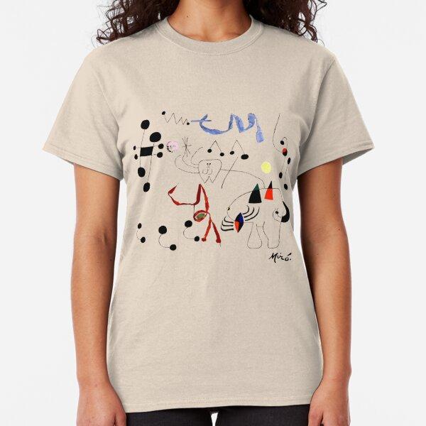 Joan Miro Woman Dreaming Of Escape T Shirt, 1945 Artwork Classic T-Shirt