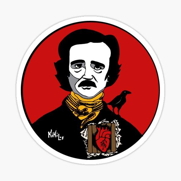 Edgar Allan Poe Pegatina