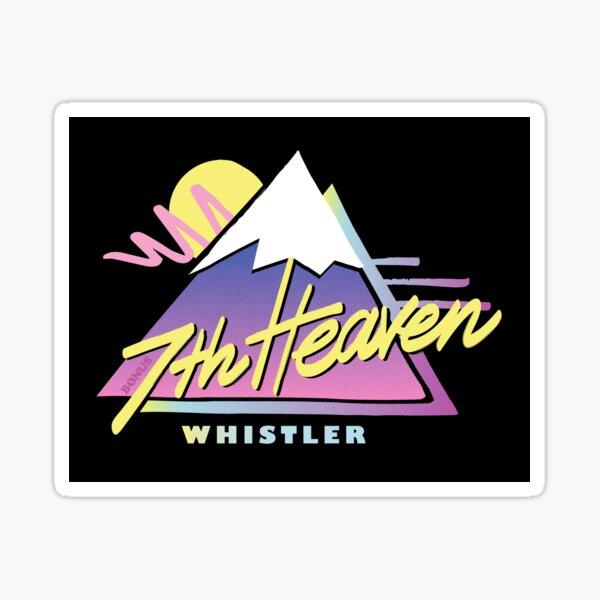 7th Heaven Whistler - retro ski and snowboard mountains Sticker