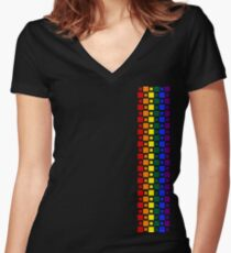 Pride Squares Vertical Fitted V-Neck T-Shirt