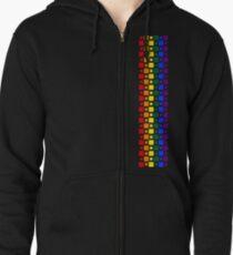 Pride Squares Vertical Zipped Hoodie