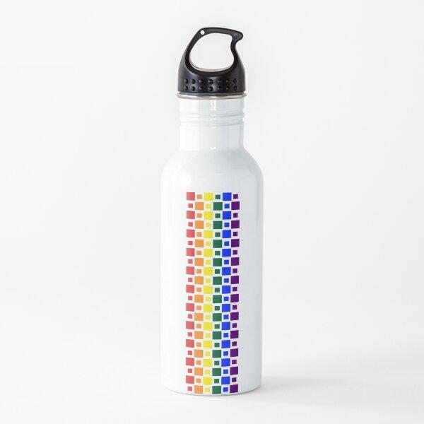 Pride Squares Vertical Water Bottle
