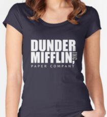 Dunder Mifflin Paper Notebook Women's Fitted Scoop T-Shirt