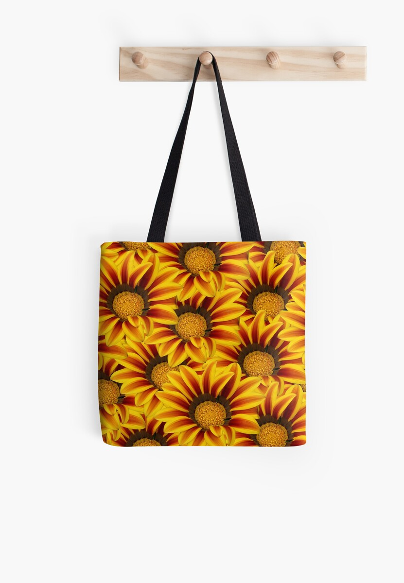 Gazania Flowers Tote Bag
