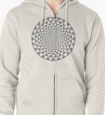Stoic Flower - Black & White Zipped Hoodie