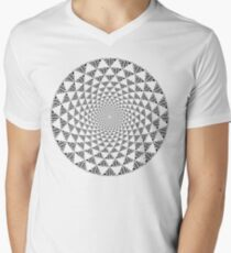 Stoic Flower - Black & White V-Neck T-Shirt