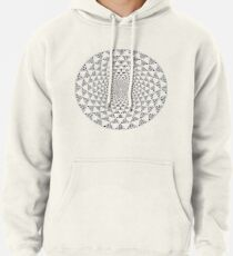 Stoic Flower - Black & White Pullover Hoodie
