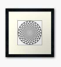 Stoic Flower - Black & White Framed Print