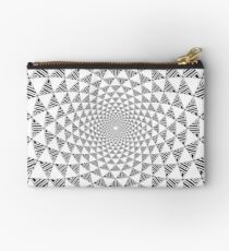 Stoic Flower - Black & White Zipper Pouch