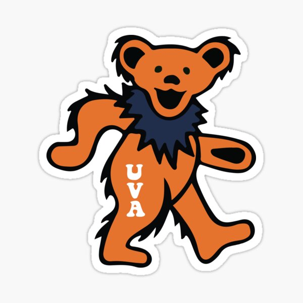 uva bear Sticker