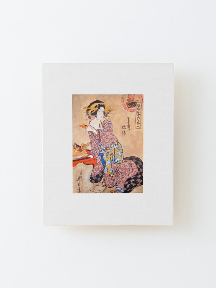 Alternate view of Sipping Sonda Mounted Print