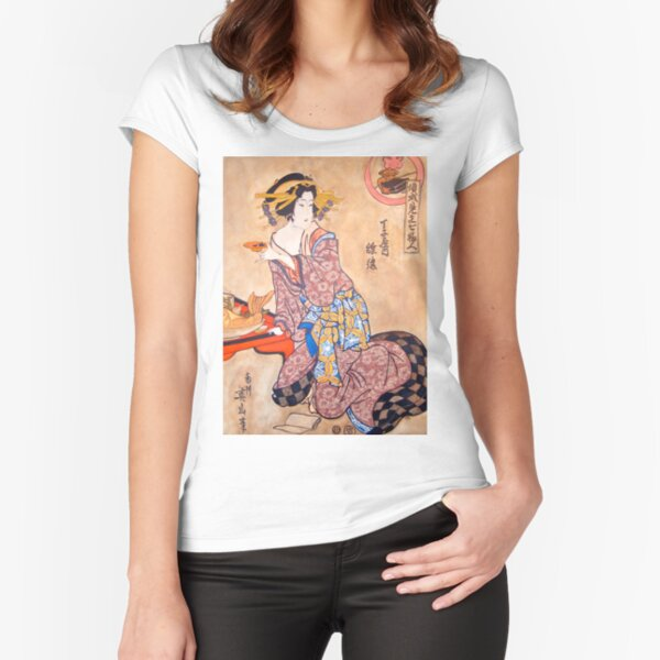 Sipping Sonda Fitted Scoop T-Shirt