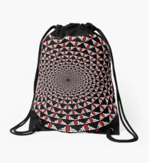 Stoic Flower - Red White Drawstring Bag