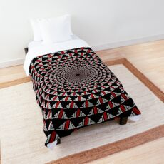 Stoic Flower - Red White Comforter