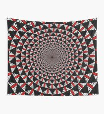 Stoic Flower - Red White Wall Tapestry