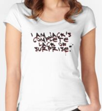 I Am Jack's Complete Lack Of Surprise Women's Fitted Scoop T-Shirt