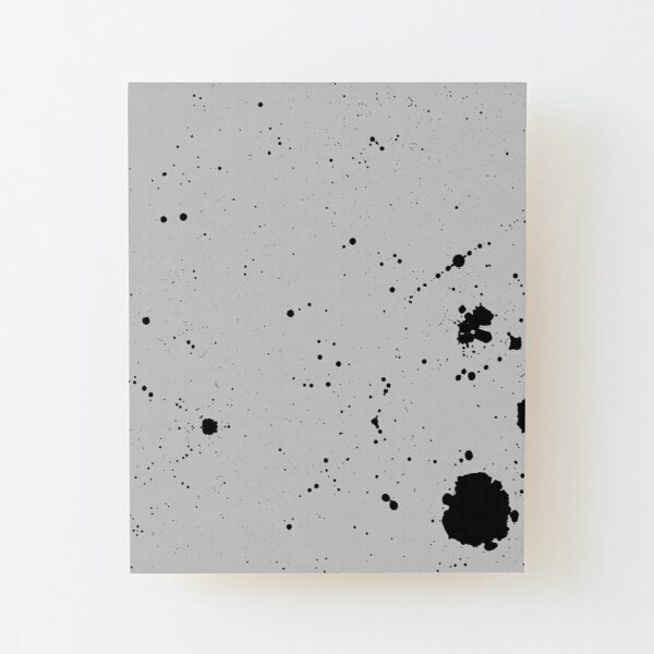 Simple Noisy Blotches Wood Mounted Print