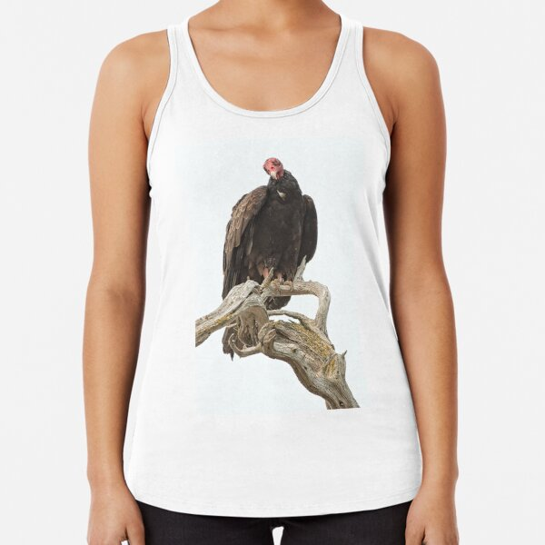 Curious Turkey Vulture Racerback Tank Top