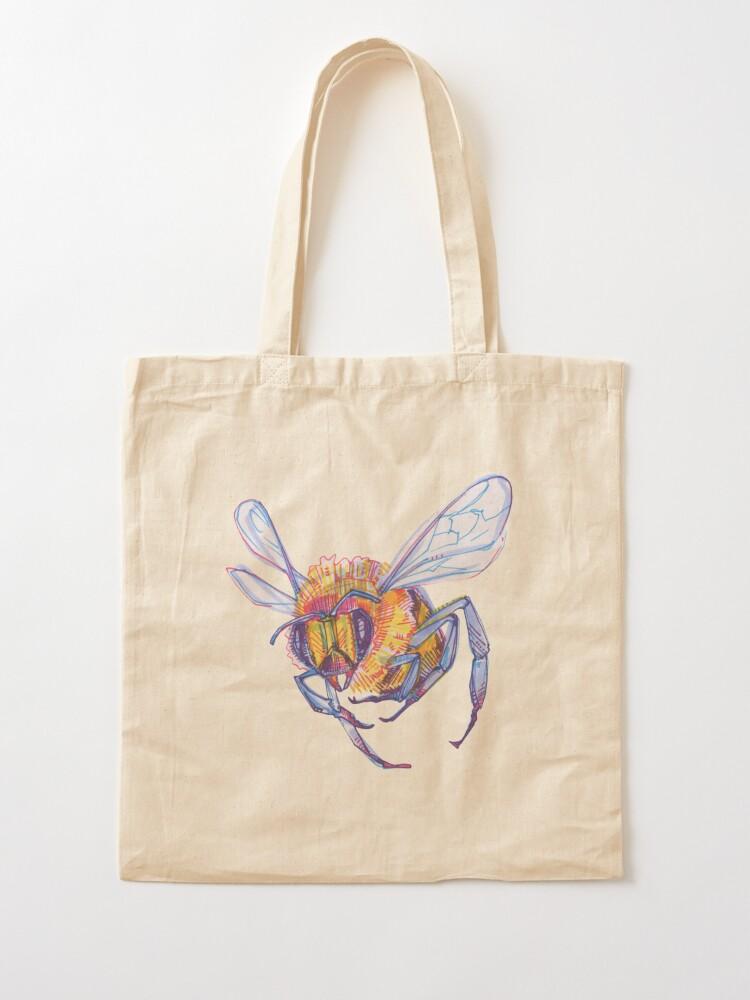Alternate view of Bee drawing - 2013 Tote Bag