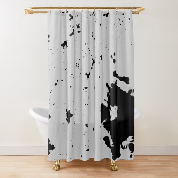 Dimgray Blotches Shower Curtain