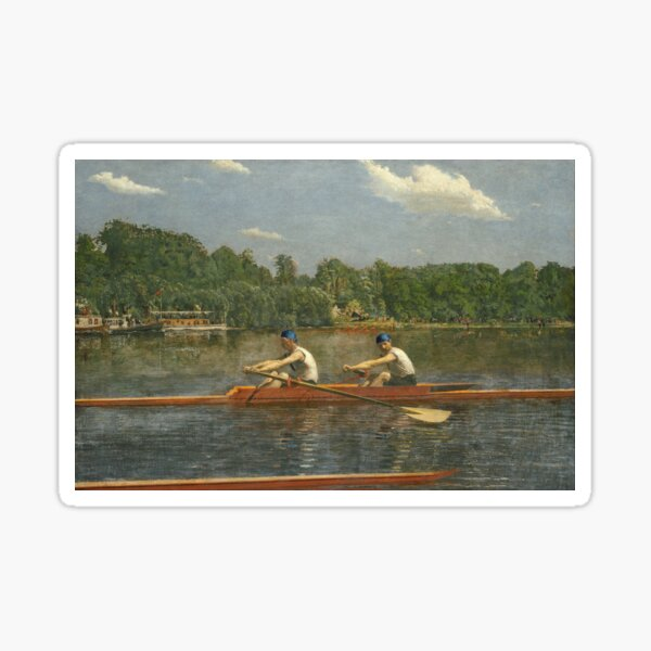 Thomas Eakins - The Biglin Brothers Racing  Sticker