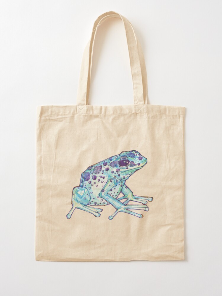 Alternate view of Blue poison dart frog drawing - 2017 Tote Bag