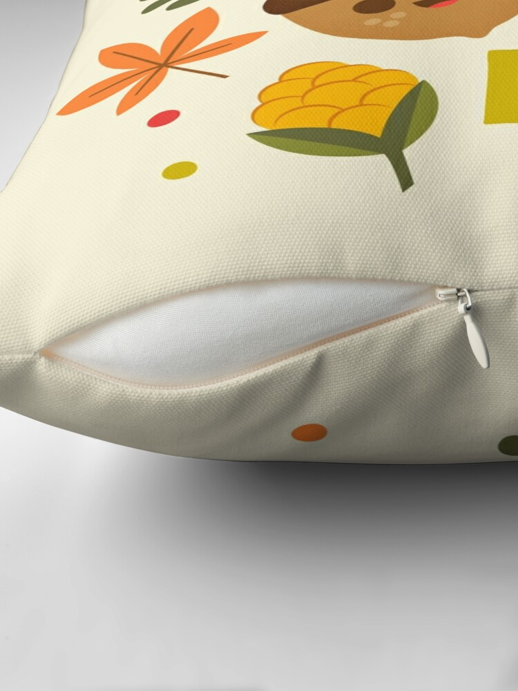 Alternate view of Nuts about Fall Throw Pillow